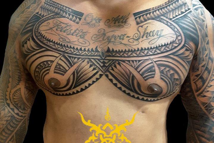 Maori_Chest_tattoo