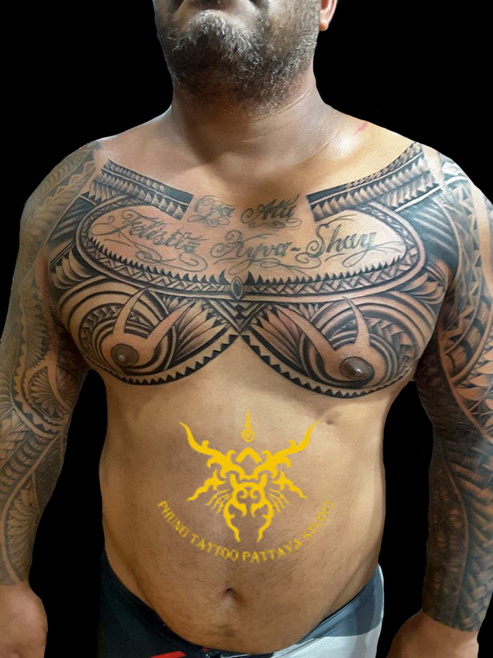 Maori_Chest_tattoo